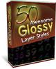 50 Glossy Layer Styles MRR + Reseller Website + Bonus