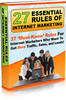 Thumbnail 27 Rules Of Internet Marketing PLR Ebook + Website Bonus