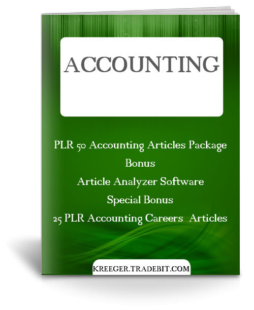 Product picture 50 PLR Accounting Articles Package