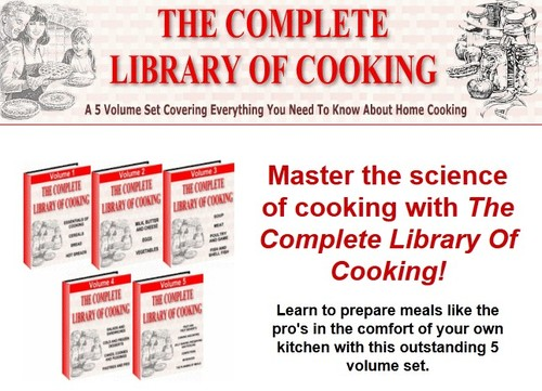 Product picture 5 Volume Cooking Library Ebooks + Bonus Software