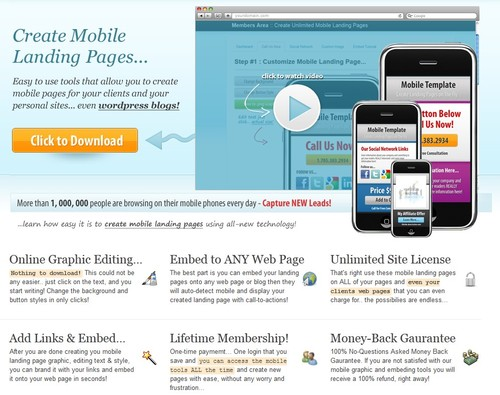Product picture Instant Mobile Site-PLR + Bonus Software