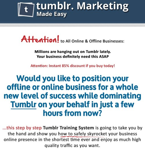 Product picture Tumblr Biz in a Box PLR + Bonus Software