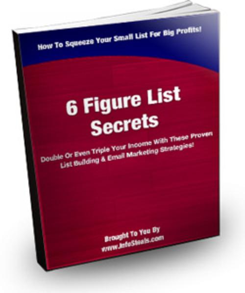 Product picture 6 Figure List Secrets PLR E-book + Website + Bonus
