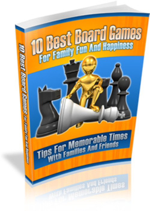 Product picture 10 Best Board Games PLR E-Book + Website + Bonus