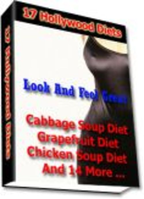 Product picture 17 Healthy Hollywood Diets PLR E-Book + Website + Bonus
