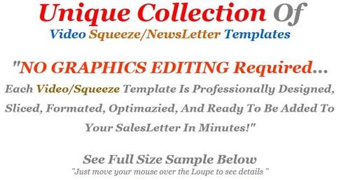 Product picture 20 MRR Video Squeeze Page Templates + Bonus