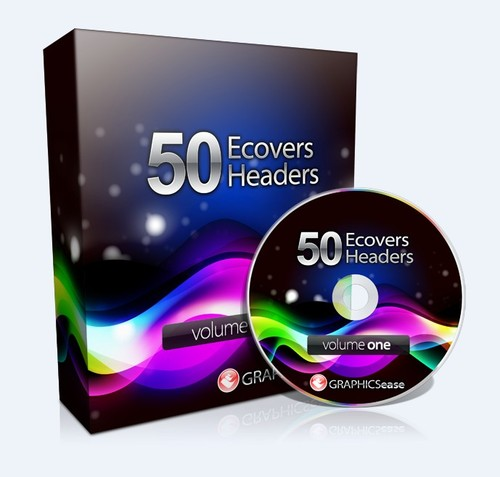 Product picture 50 E-Book Covers and Headers PLR Graphics Pack + Bonus