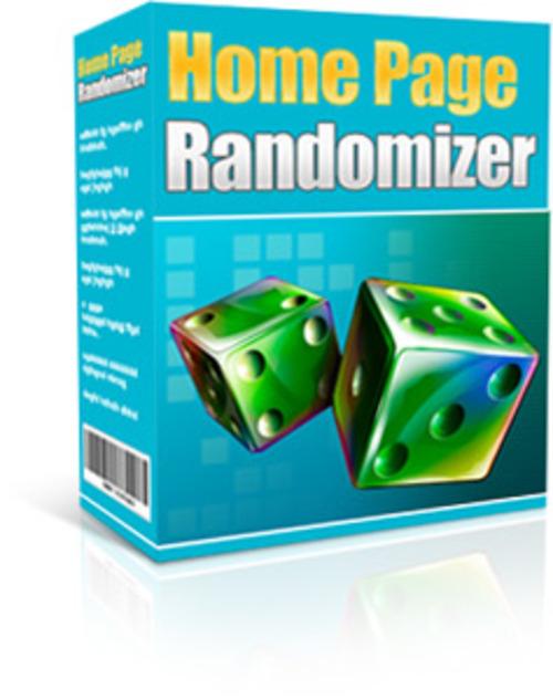 Product picture Home Page Randomizer MRR Software + Website + Bonus